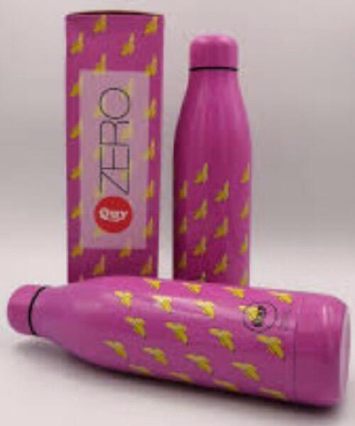 QUY CUP Zero 500ml. Thermos in Acciaio Inossidabile. Fuxia e banane