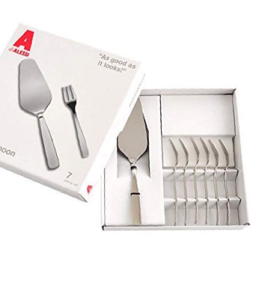 SET 6 Forchette dolce + Paletta dolce Alessi KNIFE FORK SPOON
